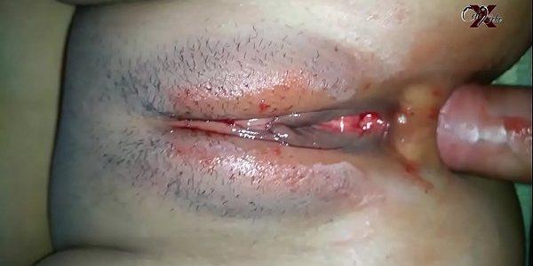 Foda caseira safada maravilhosa  menstruada dando o cuzinho delicioso